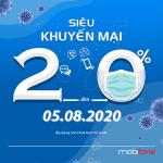 Mobifone khuyến mãi ngày 5/8/2020 tặng 20% giá trị thẻ nạp