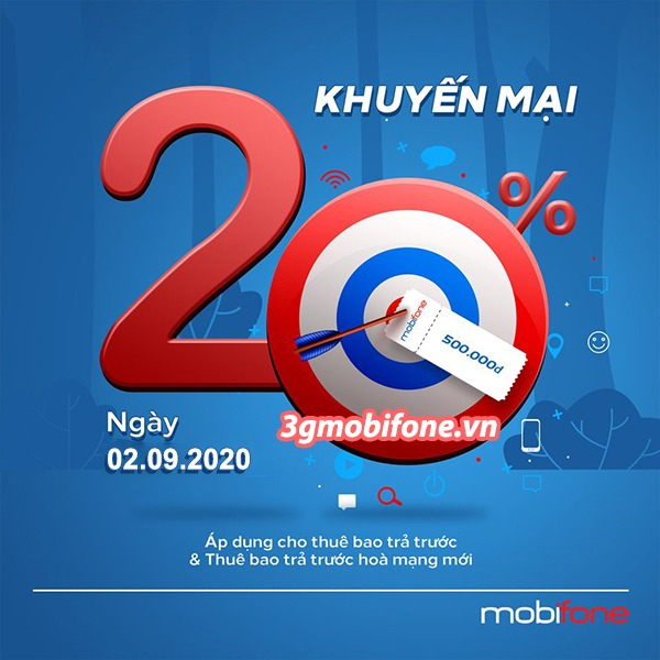 Mobifone khuyến mãi ngày 2/9/2020 ưu đãi ngày vàng toàn quốc
