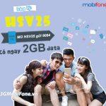 Đăng ký HSV25 Mobifone miễn phí 2GB data chỉ 25k