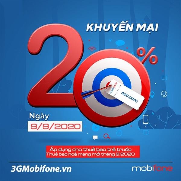 Thông tin chi tiết về khuyến mãi Mobifone ngày 9/9/2020