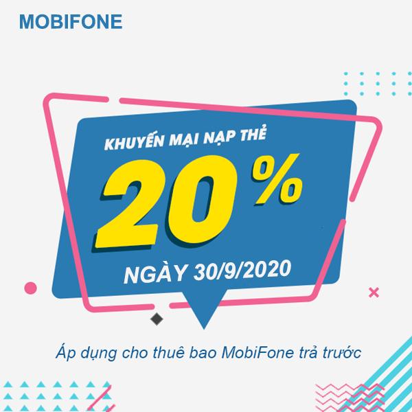 Mobifone khuyến mãi ngày 30/9/2020 ưu đãi ngày vàng toàn quốc