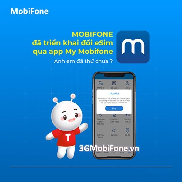 Hướng dẫn cách đổi eSim qua My Mobifone