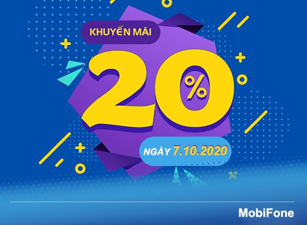 Thông tin chi tiết về chương trình khuyến mãi Mobifone ngày 7/10/2020