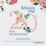 Thông tin chương trình Mobifone khuyến mãi ngày 20/10/2020