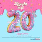 Khuyến mãi Mobifone ngày 1/12/2020 tặng 20% tiền nạp toàn quốc
