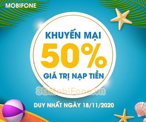 Khuyến mãi Mobifone ngày 18/11/2020 ưu đãi cho thuê bao may mắn