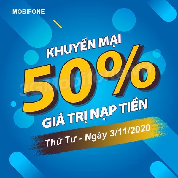 Thông tin chi tiết chương trình khuyến mãi Mobifone ngày 4/11/2020