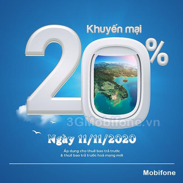 Mobifone khuyến mãi ngày 11/11/2020