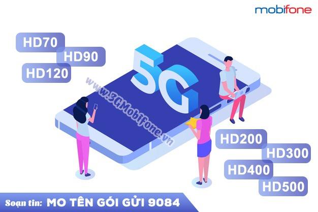 Bảng giá các gói cước 5G mobifone tốc độ cao giá rẻ