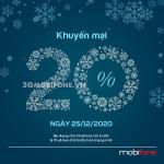 Mobifone khuyến mãi ngày 25/12/2020 ưu đãi ngày vàng toàn quốc
