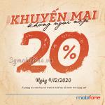Mobifone khuyến mãi ngày 9/12/2020 ưu đãi ngày vàng cho TB trả trước