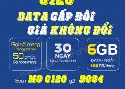 Đăng ký gói cước C120 Mobifone: Chỉ 120k có 180GB (6GB/ngày) + Gọi Miễn Phí