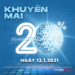Chương trình Mobifone khuyến mãi ngày 13/1/2021 ưu đãi vàng toàn quốc