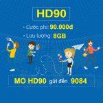 cách đăng ký gói cước HD90 Mobifone nhận 8GB Data chỉ với 90.000đ/tháng