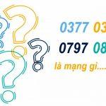Đầu số 0377, 0387, 0797, 0857 là mạng gì?