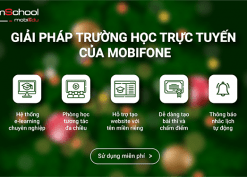 MobiEdu mShool Mobifone - Giải pháp trường học trực tuyến